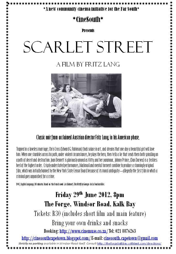 Movie Screening: Scarlet Street by Fritz Lang